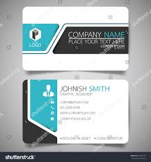 blue modern creative business card name stock vector 551083153