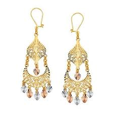 gold chandelier earrings 14k tricolor gold chandelier earrings ejer22816