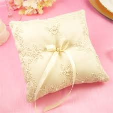 wedding pillow rings silk jusi with pearls ring pillows eco friendly wedding favors