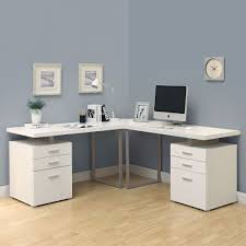 monarch white hollow core corner desk contemporary screnshoots specialties l shaped at atg s browse our