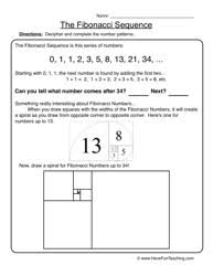 fibonacci sequence patterns worksheet 2 sequencing worksheets