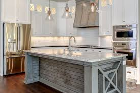 plank kitchen island transitional kitchen stonecroft homes