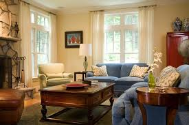 Yellow And Cream Houzz - Cream color living room