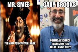 Hook Meme - mr smee gary brooks 1st mate for captain hook political science