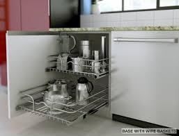 Kitchen Cabinets Baskets Ikea Kitchen Cabinet Accessories