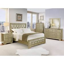 Mirrored Bedroom Sets Abbyson Living Penelope Queen Size 6 Pc Mirrored Bedroom Set