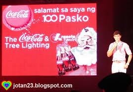 jotan23 coca cola christmas tree lighting event celebrating 100