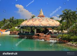 atlantis hotel on paradise island nassaubahamas stock photo