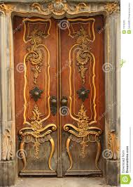 door with gold ornaments stock photos image 11915233