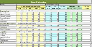 Excel Costing Template Product Cost Estimate Template
