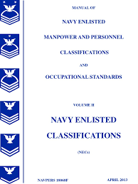 manual of navy enlisted manpower and personnel classifications and