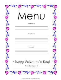 printable valentine u0027s day menu the frugal fairy