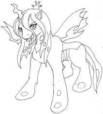 queen chrysalis coloring pages eson me