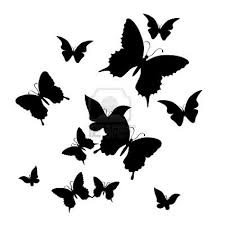 silhouette of butterfly on a white background traceable designs