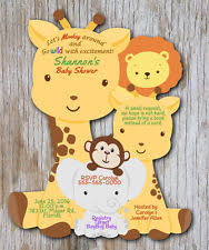 jungle baby shower invitations ebay