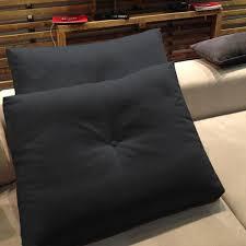 coussin pour canape coussin décoratif élément b couleur anthracite adapté pour
