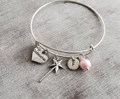 Goddaughter Charm Baptism Gift Silver Charm Bracelet Goddaughter Gift Christening