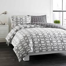 city scene labyrinth grey reversible cotton 3 piece duvet cover set