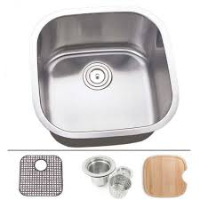 20 inch stainless steel undermount single bowl kitchen sink 16 gauge free accessories