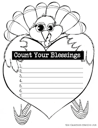 free turkey gratitude worksheet title count your blessing
