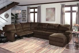 leather sectional sofa with recliner and sleeper microfiber