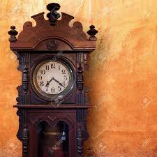 vintage wood clock stock photo picture and royalty free image