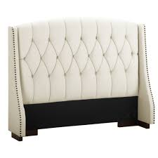 new white leather tufted headboard king of the sophia button