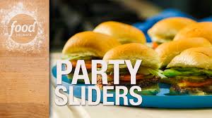 sliders for a party recipe food network kitchen food network