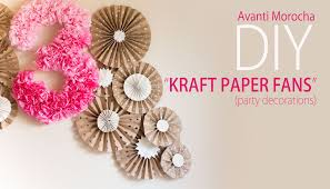 paper fan backdrop diy kraft paper fans backdrop abanicos de papel party