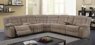 Motion Sectional Sofa Best Quality S512 3pc 3 Pc Collection Light Brown Chenille