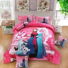 Frozen Comforter Set Full Disney Girls U0027 100 Cotton Bedding Ebay