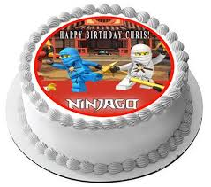 ninjago cake toppers lego ninjago 1 edible birthday cake or cupcake topper edible