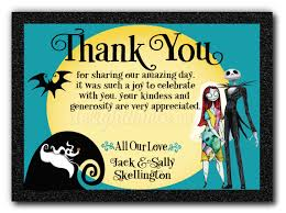nightmare before wedding thank you card di 5050ty