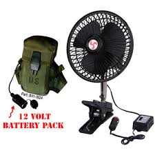 12 volt heavy duty metal fan portable cing hanging tent fan with power pack