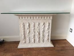 Stone Console Table Stone Effect Console Table With Plate Glass Top In Shoreham By