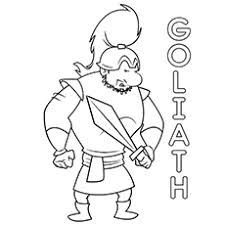 25 free printable david goliath coloring pages