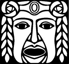 imagenes mayas para imprimir dibujo de máscara maya para colorear dibujos net