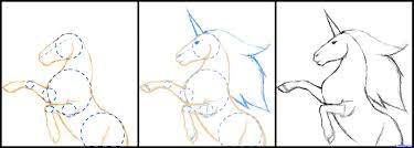 drawn unicorn step by step pencil and in color drawn unicorn