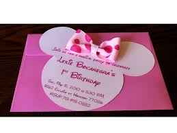 How To Make Minnie Mouse Invitation Cards Bellygusher Lexie U0027s 1st Birthday Minnie Mouse