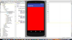 android opengl create your opengl app with android studio