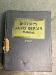 1966 motor u0027s auto repair manual manuals technical automotive