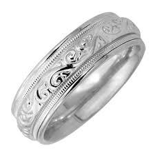 wedding ring depot 14k white gold paisley floral band 7mm 3005700 shop at wedding