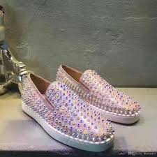 popular style lovers glitter leather spikes oxfords shoes wedding
