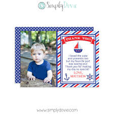 nautical thank you cards simply dovie nautical birthday thank you card photo boy jpg