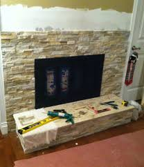 decorations stacked stone fireplace of fireplace stone wall tile