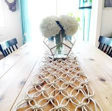 make your own table runner diy macrame table runner