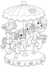 precious moments coloring pages carousel coloringstar