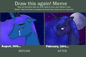 Mlp Luna Meme - draw this again mlp luna by smilingm00n on deviantart