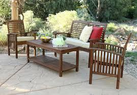 amazon com we furniture solid acacia 4 piece patio chat set