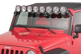 jeep jk hood led light bar kc hilites 91313 gravity pro6 led light bar for 07 18 jeep wrangler